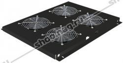 Блок вентиляторов для шкафов TFC глубиной 800мм, 4 вентилятора, черный
