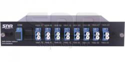 Мультиплексор DWDM одноволоконный 8-канальный в 1/2-слоте
