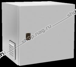 Настенный термошкаф высотой 9U глубина 450 мм, без козырька