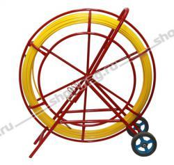 Устройство для затяжки (протяжки) кабеля на тележке (УЗК), D=11mm, L=150m, цвет - желтый