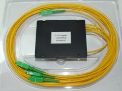 Делитель оптический корпусный single window 1х 3 (1310nm) с разъемами SC/APC