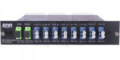 Мультиплексор DWDM двухволоконный 8-канальный в 1/2-слоте