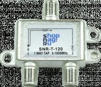 Ответвитель абонентский SNR-T-124, на 1 отвод вносимое затухание IN-TAP 24dB.