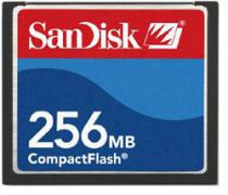 Память Compact Flash 256Mb