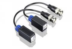 Приемопередатчик видеосигнала по витой паре пассивный SNR-B-P1V HD  1-канальный(пара) для  HDCVI, HDTVI, AHD