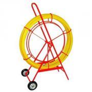 Устройство для затяжки (протяжки) кабеля на тележке, D=11mm, L=150m, цвет - желтый (Германия)