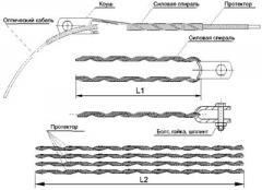 Зажим (подвес) натяжной спиральный (диаметр 12,8-13,1мм  до 110м, с протектором)